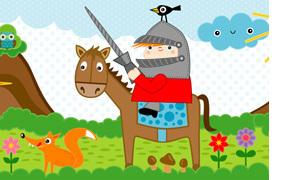 Bordüren Kinderzimmer - Piraten, Ritter und Indianer | miyo mori