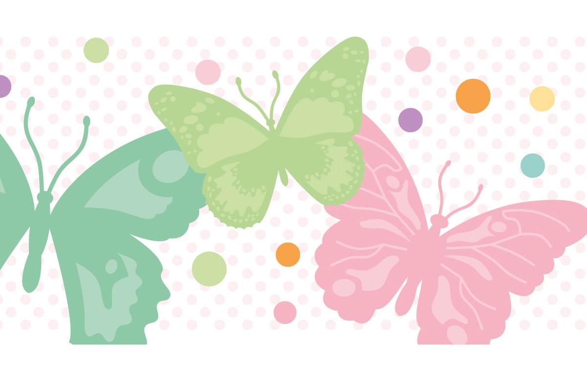 Bordüre selbstklebend - romantische Schmetterlinge  miyo mori