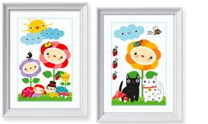 Poster Kinderzimmer - Tiere Wald, Wiese & Dschungel | miyo mori