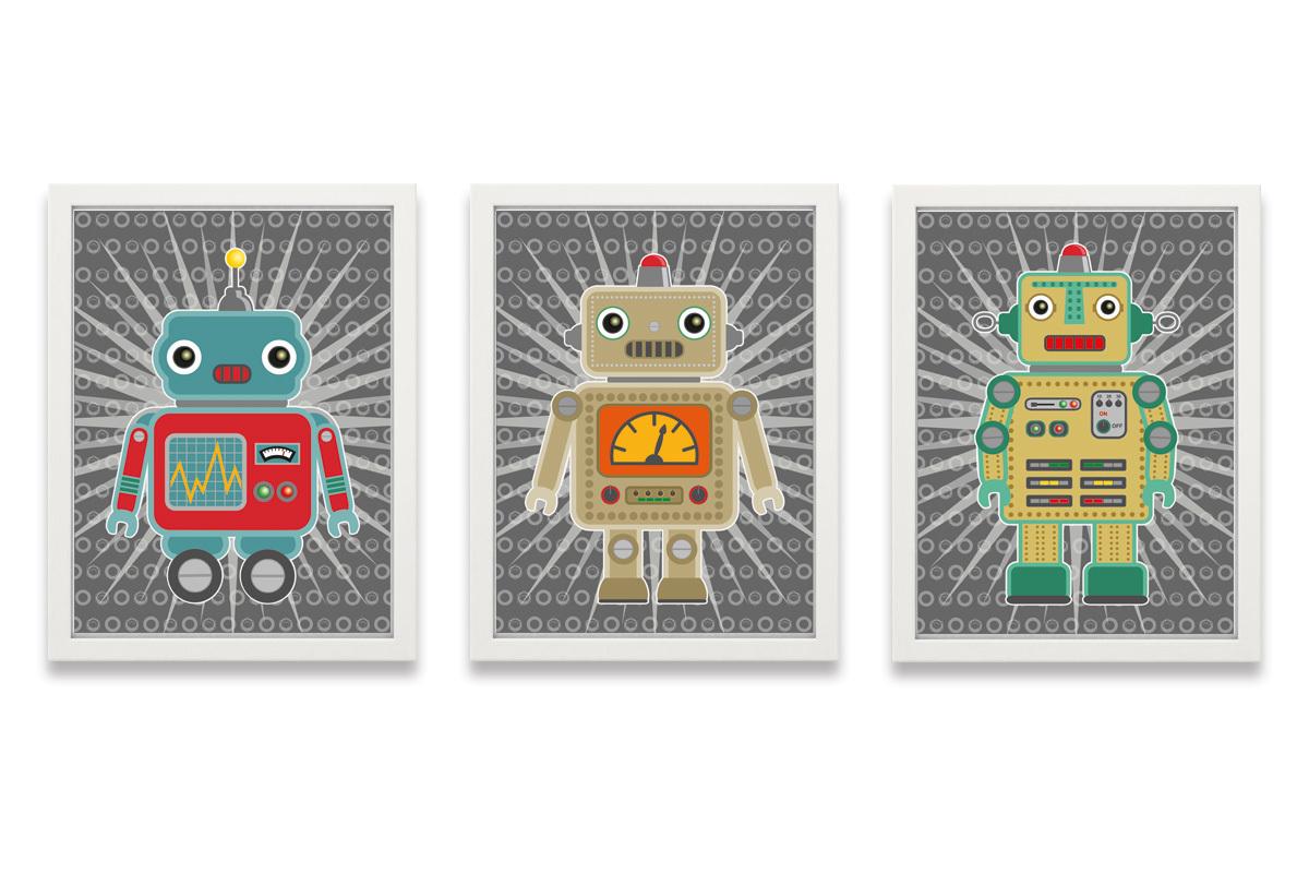 Kinderzimmer Poster - super Roboter für coole Jungs | miyo mori