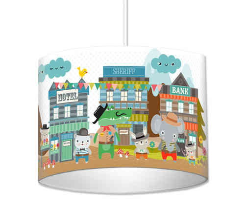 Lampe Kinderzimmer - Cowboys aus Random City